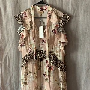 Anthropologie Dresses - NWT silk Anthropologie maxi dress